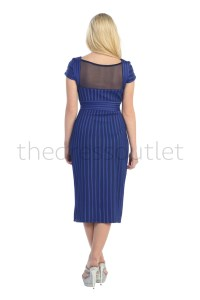 Plus Size Short Cap Sleeve Form Fitting Mid Length Mother ...
