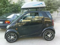 Smart 450 for two roof rack   Modified thule roof rack to ...