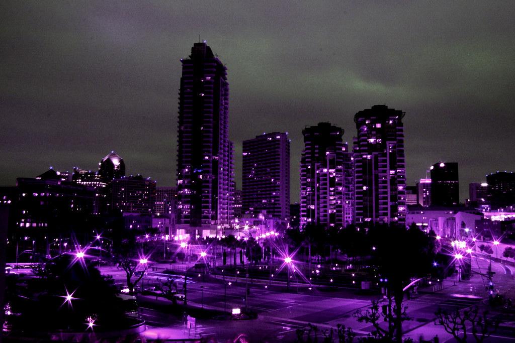 Dark Cozy Girl Wallpaper San Diego At Night Purple Filter Lee Burgess Flickr