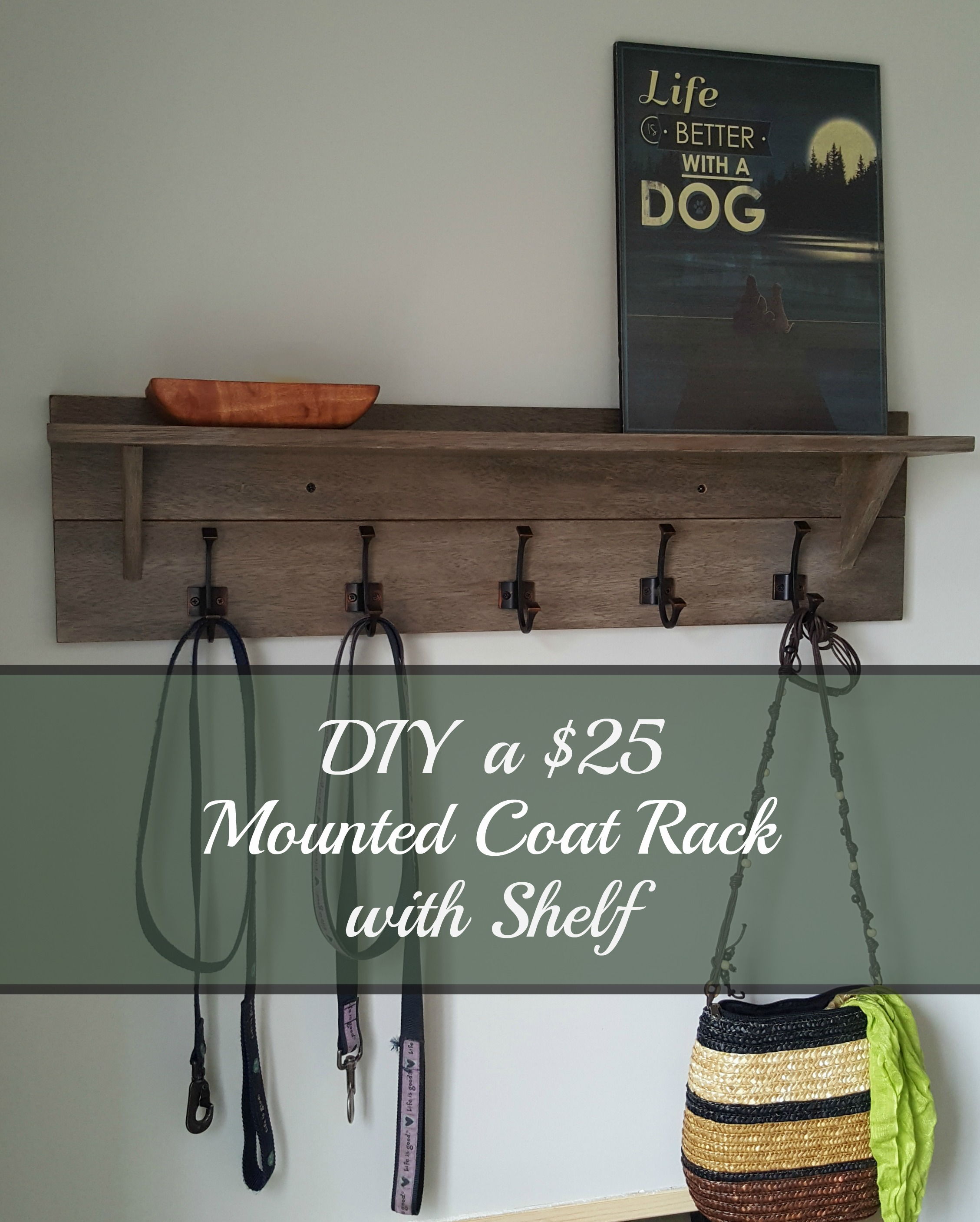 Coat Rack With Shelf Turtles And Tails Wall Mounted Coatrack With Shelf Diy