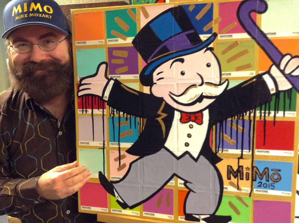 Png 3d Wallpaper Pop Art Street Art Style Painting Of Mr Monopoly Guy Pai