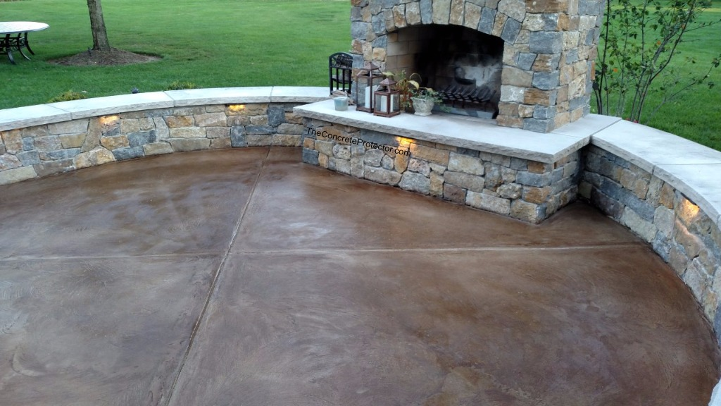 Stained Concrete Patio Concrete Surface And Design Burli