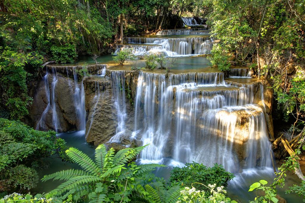 Free 3d Scenic Wallpaper Huay Mae Khamin Waterfall Kanchanaburi Thailand Flickr
