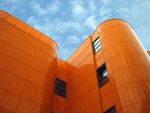 3d Orange Wallpaper Orange Architecture Viewed In Berlin Henning Flickr