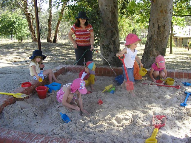 3d Garten Preschool Sandpit | A New Sandpit With A Shady Roof Was
