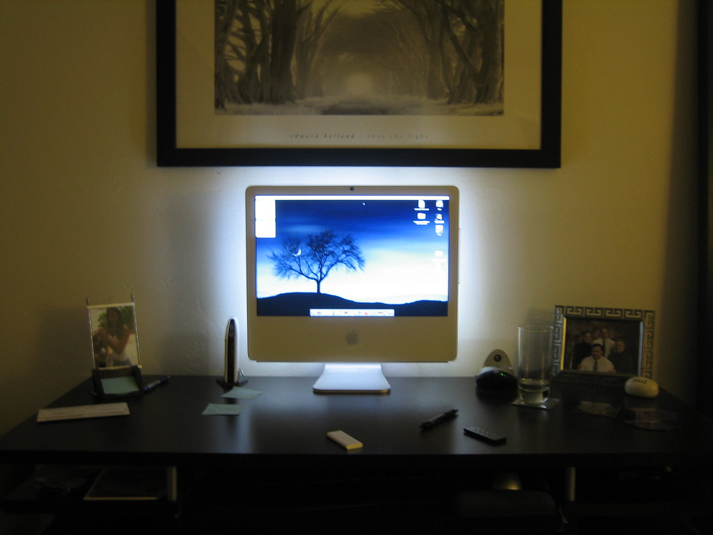 Pro Tape Backlight Imac | Went To Ikea And Bought 4 Led Strips And