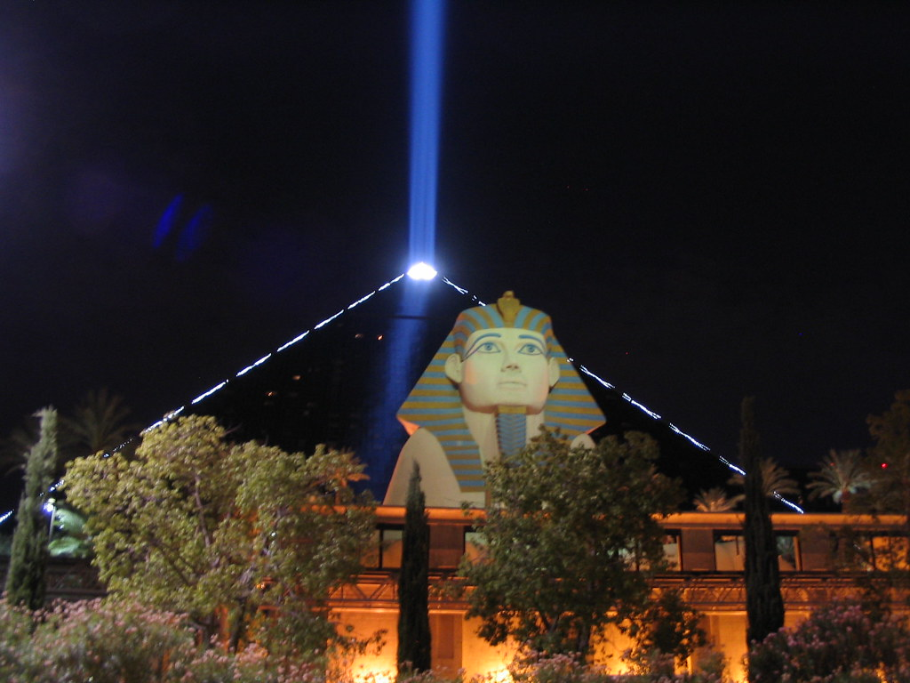 Table Of 4 Luxor Sky Beam, Luxor Las Vegas, Las Vegas Strip, Las Vega