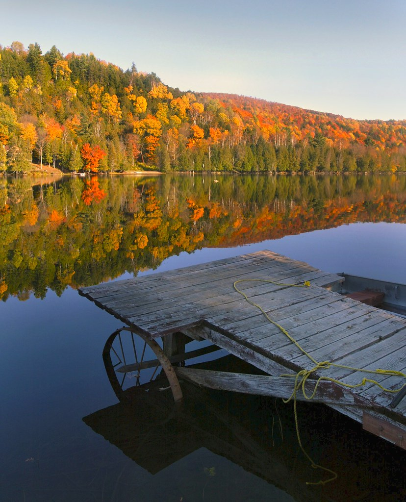 Fall In Vermont Wallpaper Vermont Fall Eden Lake Dock Vermont Eden Lake D99e8253