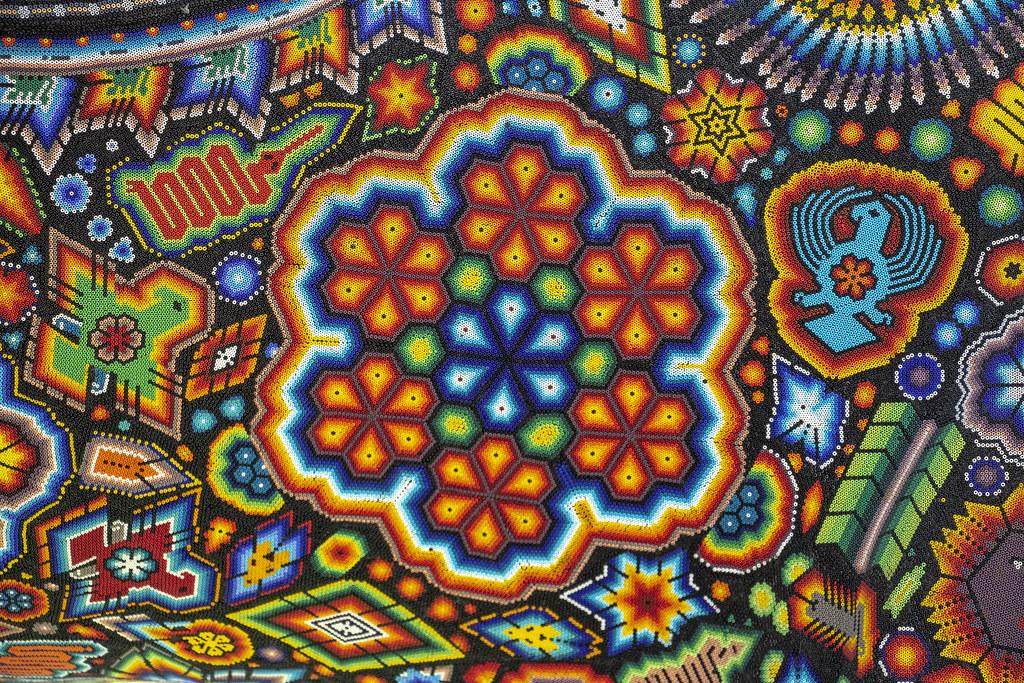 3d Flower Mural Wallpaper Huichol Texture Textura Huichol Rafael Salda 241 A Flickr