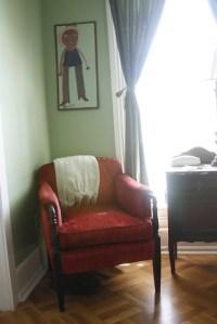 cozy reading chair at the austin folk house   Caroline ...