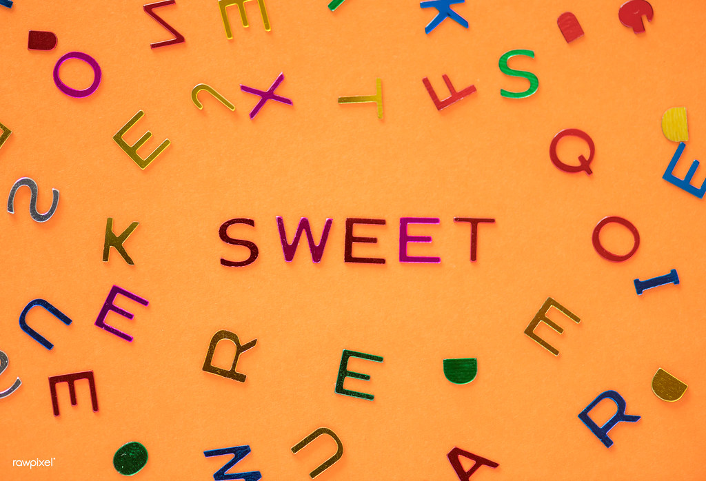 Sweet spelled word with alphabets background Free for comm\u2026 Flickr - word alphabets
