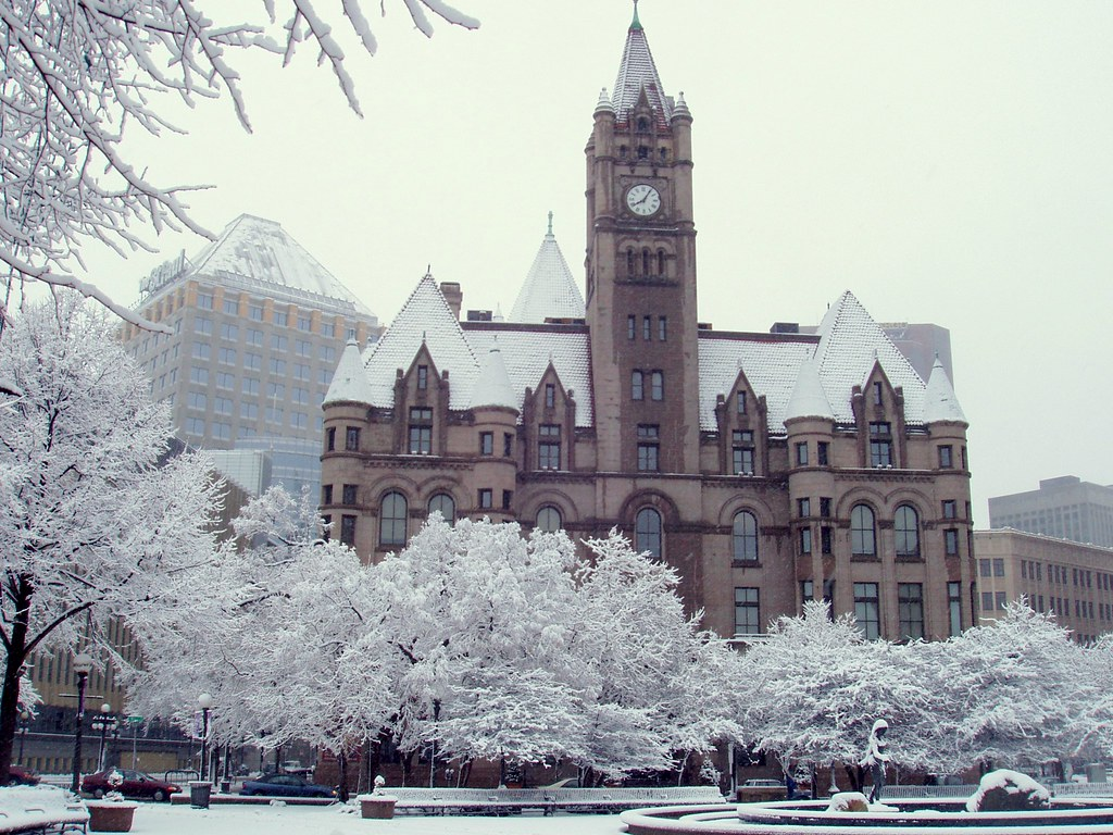 Free Winter 3d Desktop Wallpaper Landmark Center Saint Paul Rice Park Is In Front Of It