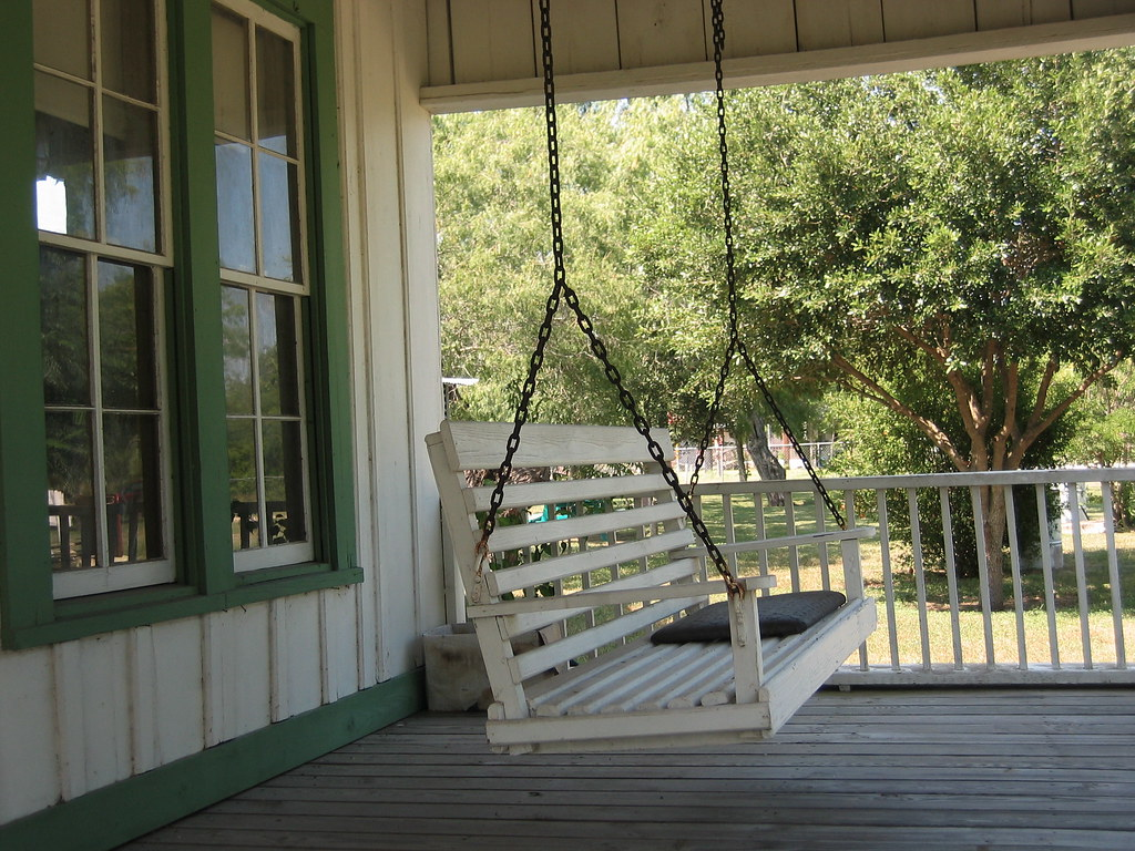Farmhouse Front Porch Swing Porch Swing In Helena Tx Jon Connell Flickr