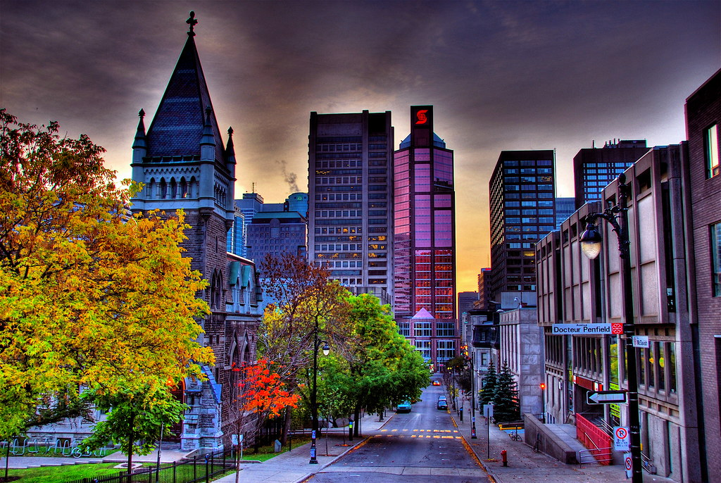 Fall Pictures For Wallpaper Free Montreal Skyline Montreal Skyline In The Sunrise