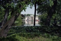 Mansion on the Water from the perspective of garden trees ...