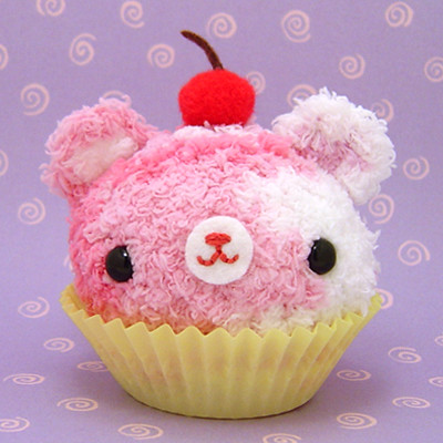 3d Bear Wallpaper Amigurumi Strawberry Swirl Cupcake Bear With Cherry On Top
