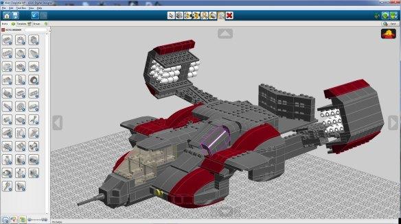 Building Of A Lego Dropship Moc Part 1 Lego Digital Designer