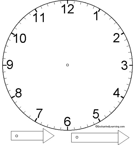 Basic Clock Face Template Annie\u0027s Uncommon ARTicles Flickr