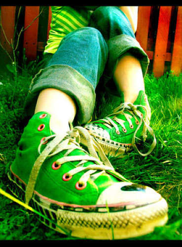 Emo Girl Wallpaper With Quotes Green Shoes Green Shoes Hande Aksoy Flickr