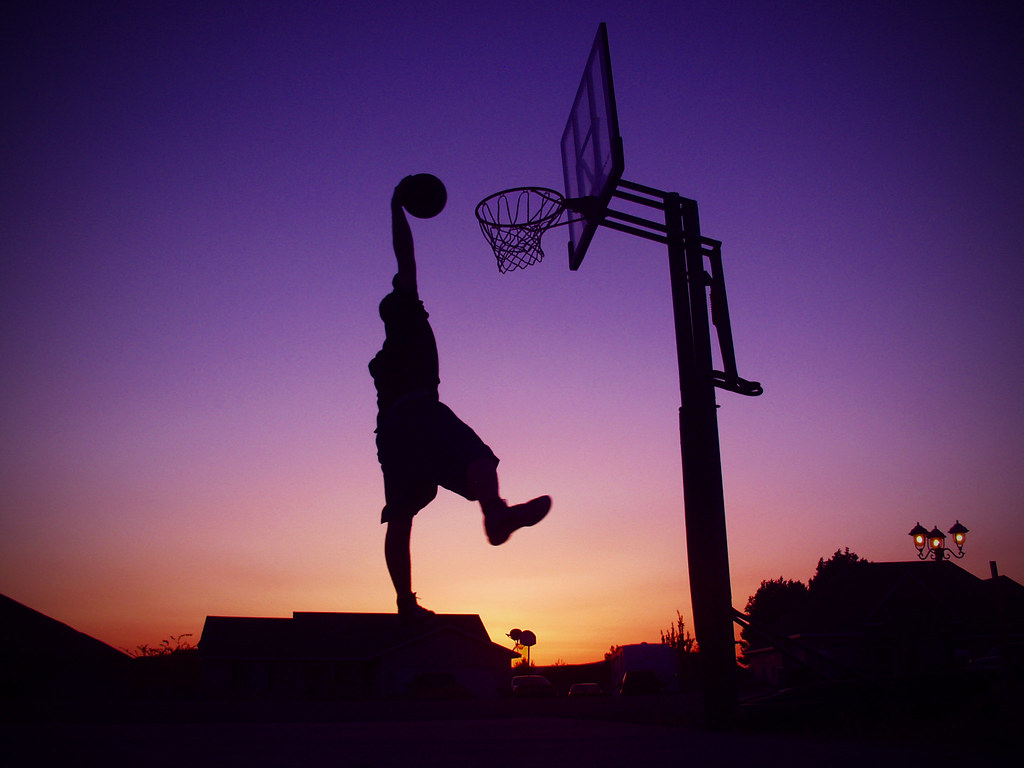 Wallpaper Sunset 3d Basketball Dunk 6 Stephen Vangorkum Flickr