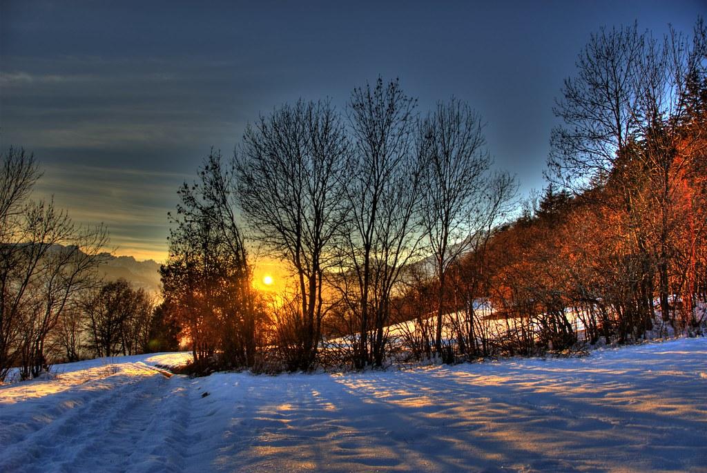 3d Christmas Tree Wallpaper Backgrounds Sunset In Binii Switzerland 169 2007 Jean Marc Kuffer