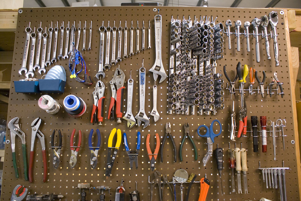 Tools On Pegboard Bradjustinen Flickr