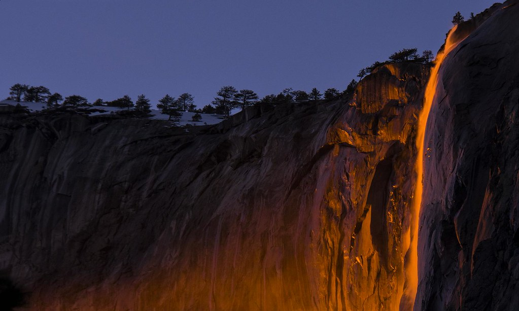 My Photo Wallpaper 3d Horsetail Fall Sunset 2017 Warning If You Are Headed