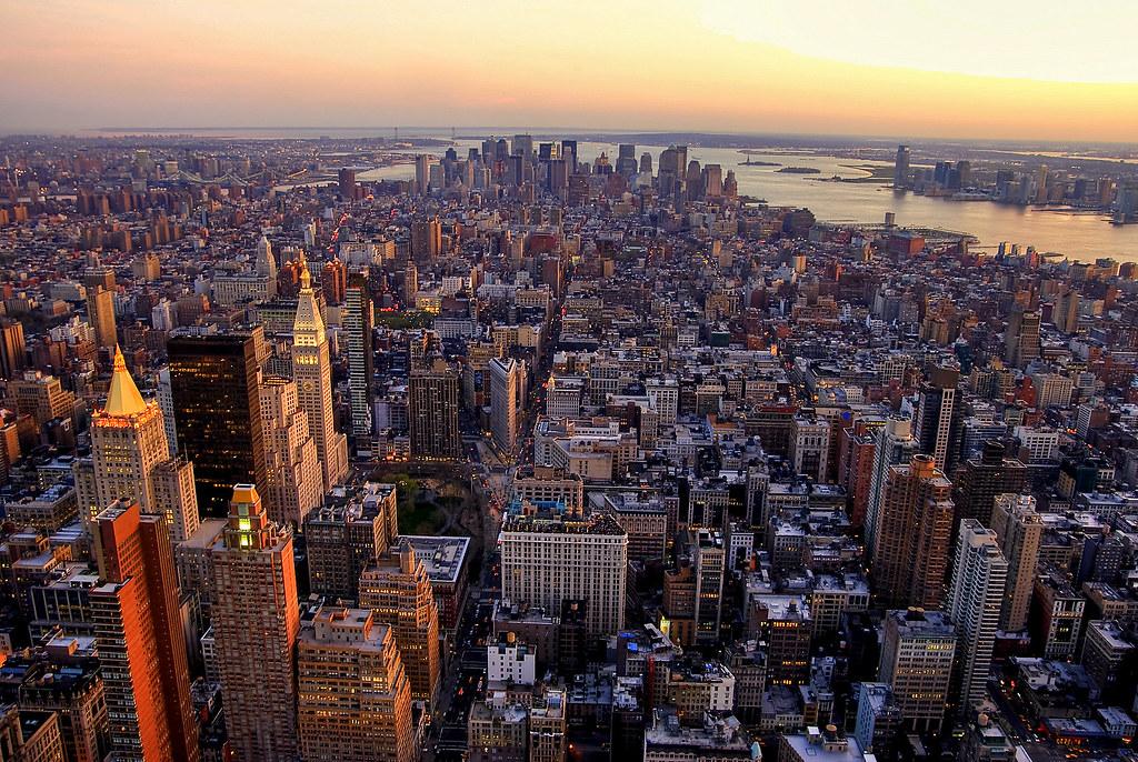 3d Wallpaper City View Comics New York Vu Du Haut De L Empire State Building