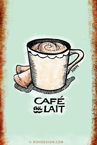 Cute Ipod Touch Wallpaper Cafe Au Lait 320x480 Wallpaper A 320x480 Image From