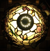stained glass lamp, top view | The top of the lamp ...