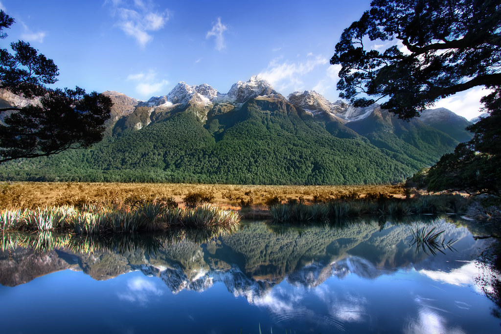 Yosemite Falls Wallpaper Mother Nature S Mirror New Zealand Milford Sound Mirr