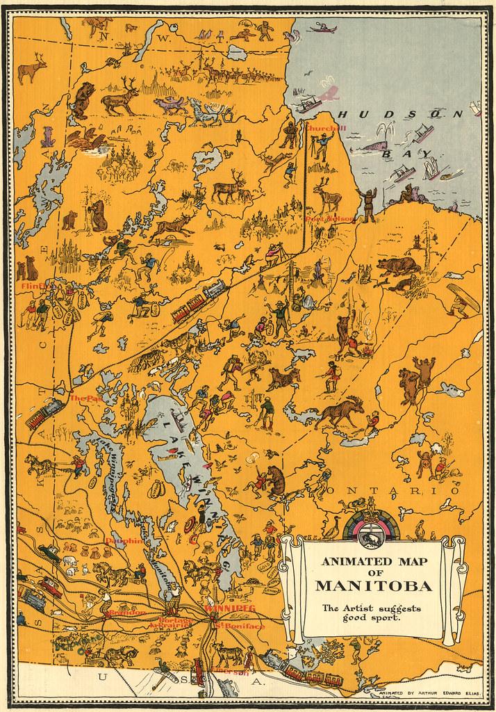 Animated Map of Manitoba (1929) Elias, Arthur Edward Anim\u2026 Flickr - animated maps