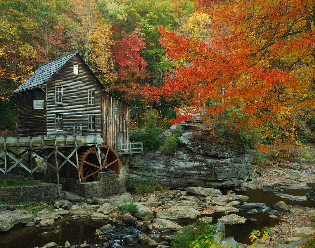 October Fall Wallpaper Autumn Grist Mill 1 This Is The Grist Mill At Babcock