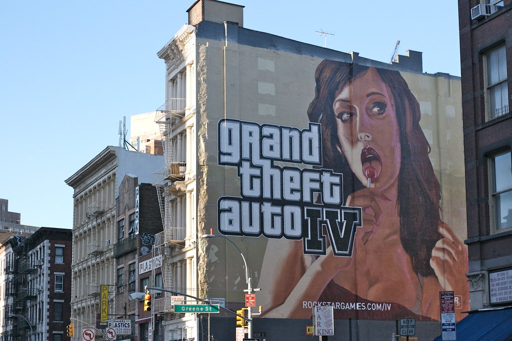 Gta Iv Wallpaper Girl Grand Theft Auto Iv Ad Canal Street New York More