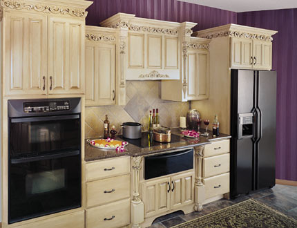 As 3d Wallpaper Upscale Kitchen Cabinets Fieldstone Cabinetry This