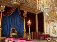 Napoleon's Throne Room | The blue was so rich...that's ...