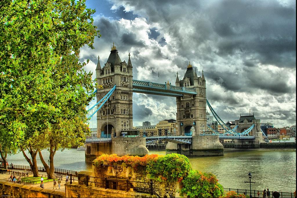 Free Fall Widescreen Wallpaper London Tower Bridge Tone Mapping London Tower Bridge