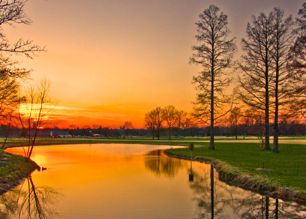 D 3d Wallpaper Sunset Forest Park St Louis Missouri Matthew Flickr