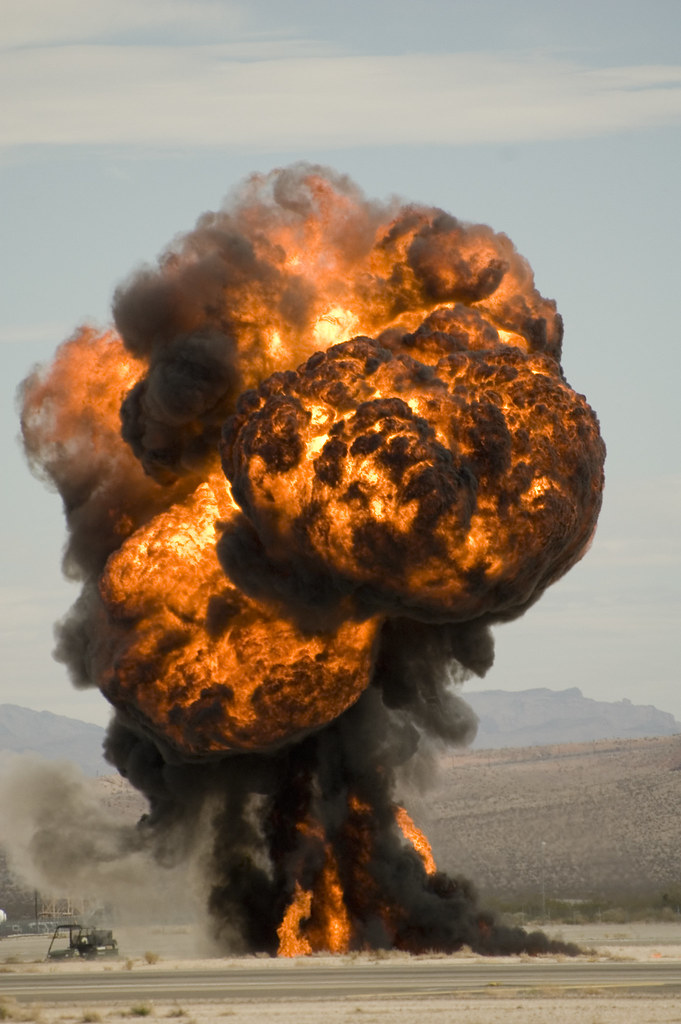 Airplane 3d Wallpaper Explosion Shot Of Fuel Pit Explosion During Aviation
