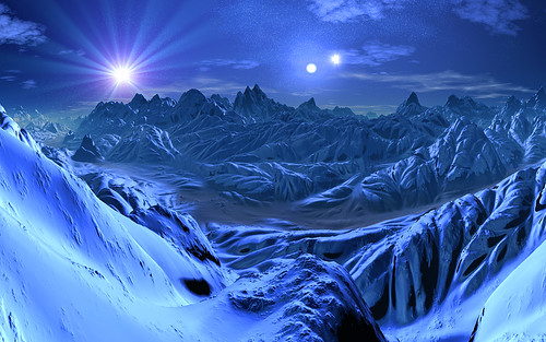 Alien Planet Windows 7 3d Wallpaper Three Suns Ice World Imagine A Distant Cold Planet With