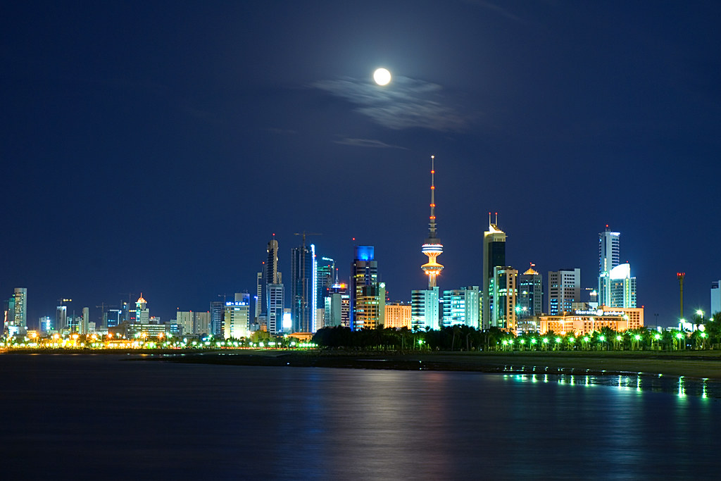 Desktop Wallpaper Windows 7 3d Kuwait Cityscape Another Long Exposure Of Kuwait