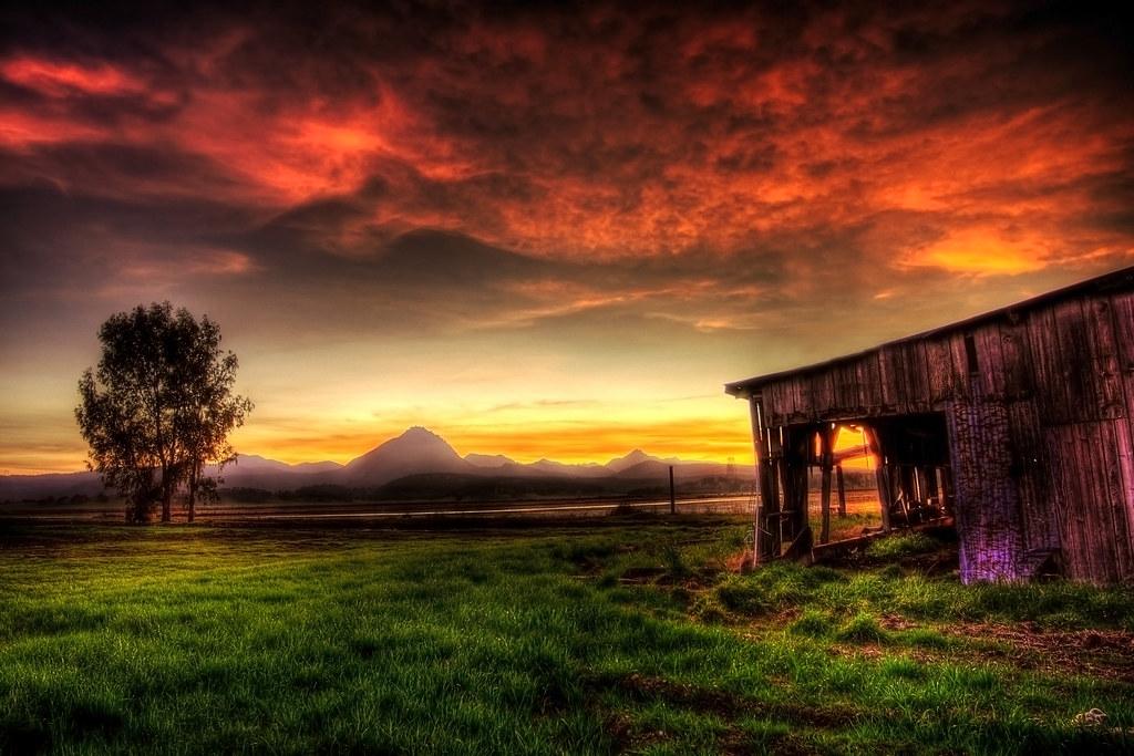 3d Flower Photo Wallpaper Barn Mountains Tree Sunset Hdr Wonderful Flickr