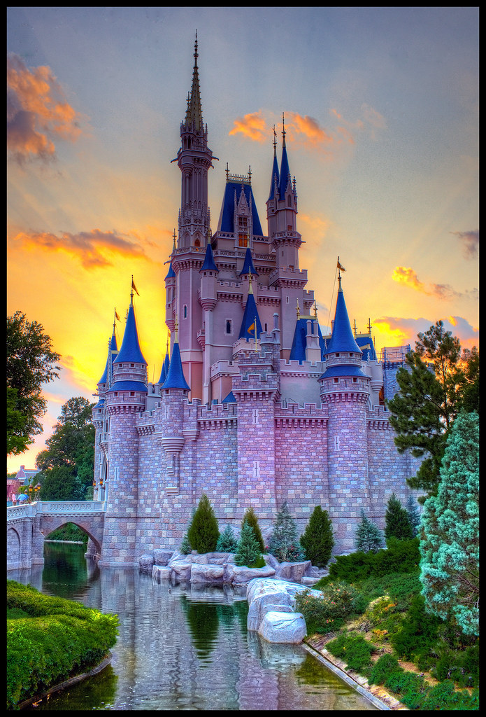 Walt Disney World Iphone Wallpaper Magic Kingdom Sunset Castle A 3 Shot Hdr For Today
