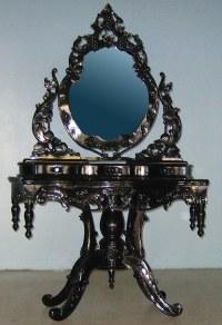 4116 BEAUTIFUL ORNATE HIGH GLOSS BAROQUE VANITY | Make ...