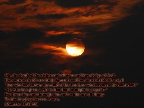 Sunrise 3d Wallpaper Romans 11 33 36 Christian Wallpaper David Gunter Flickr