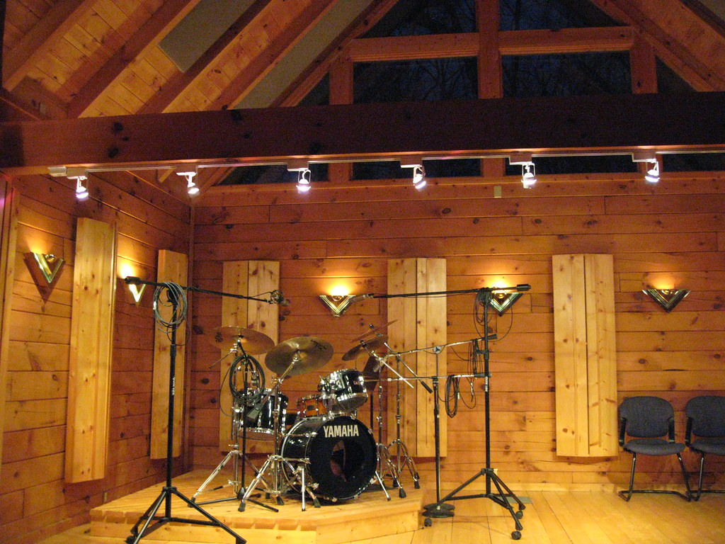 3d House Wallpaper Room Drum Room Creative Caffeine Studio All Wood Tracking