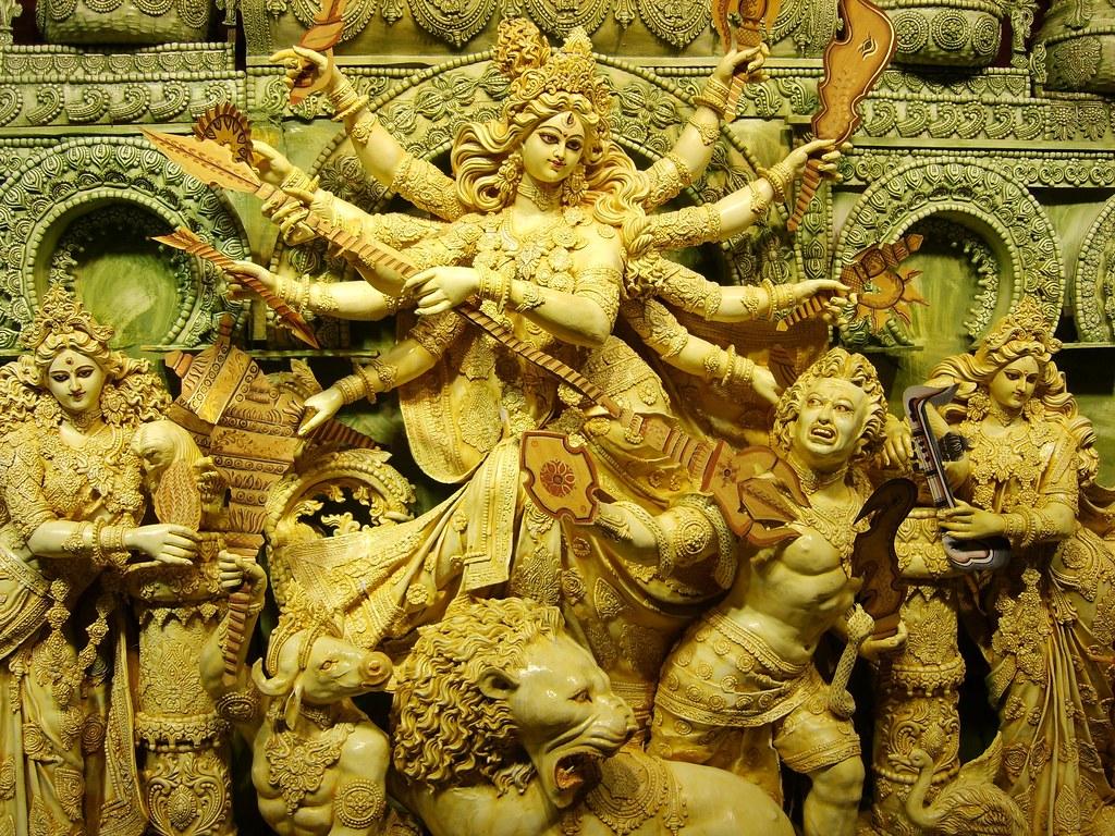 Durga Puja 3d Wallpaper Durga Idol From Krishna Nagar This Is The Original Art