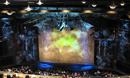 3d Clock Wallpaper A Wicked Set The Dramatic Set Design Of Wicked