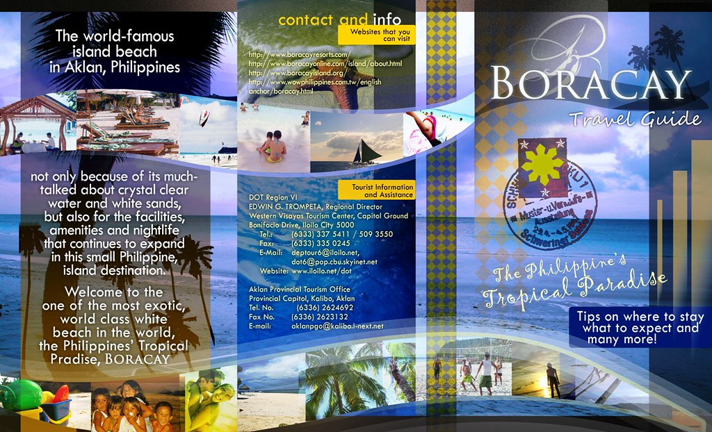 cover letter format online%0A     Sample Travel Brochure Boracay Brochure  Page   By Vp Foz  sample  travel brochure