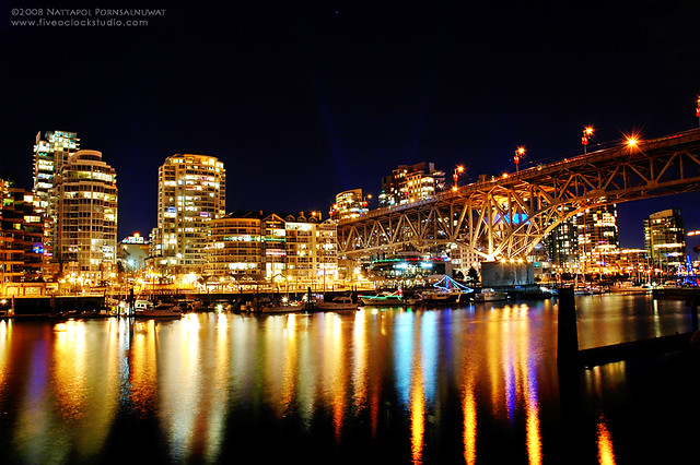 D 3d Wallpaper Vancouver At Night Vancouver At Night From Granville